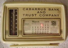 Vtg Advertising Cabarrus Bank & Trust, Kannapolis, NC Thermostat Calenda... - $15.95