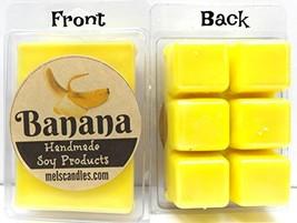 Mels Candles & More Banana 3.2 Ounce Pack of Soy Wax Tarts (6 Cubes Per ... - $3.79