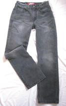 Men Teen Size 16 Slim  26X28 Levi's 514 Slim Straight Jeans Distressed Gray Wash - $14.69
