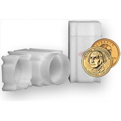 CoinSafe Square Small Dollar Coin Tubes (Qty = 5 Tubes)