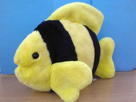 "Ty Beanie Buddies BUBBLES the Yellow and Black Fish Plush Buddy 11"" 1999 - $9.89"