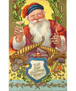 Santas Best Christmas Wishes vintage 1909 Post Card - $7.00