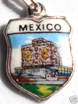 MEXICO University Library - Vintage Travel Shield Charm - $24.95