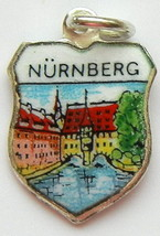 Nurnberg GERMANY Castle Silver Enml Travel Shie... - $29.95
