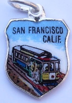 SAN FRANCISCO CALIFORNIA Cable Car Silver Ename... - $24.95