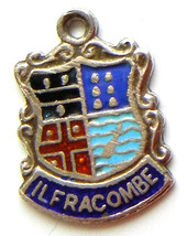 ILFRACOMBE ENGLAND Silver Enamel Travel Shield ... - $24.95