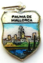 PALMA de MALLORCA SPAIN Windmill Enamel Shield Charm - $29.95