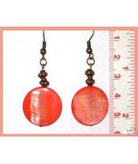 Sunset Mother of Pearl Earrings  - $6.50