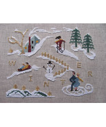 Winer Holiday cross stitch chart By The Bay Needleart  - $9.00
