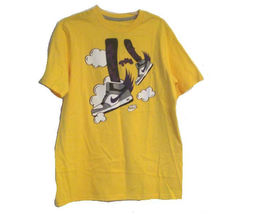 BOYS YOUTH KIDS NIKE STILL THE FLYEST GRAPHIC TEE T SHIRT YELLOW NEW $20  - $14.99