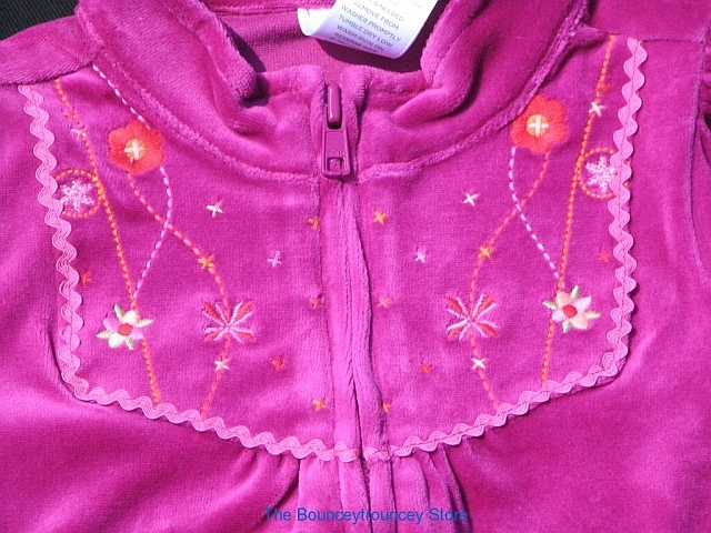 NWT Gymboree Peruvian Doll Zip Front Velour Jacket Sz 2
