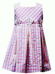NWT Rare Editions Pink Blue Plaid BUTTERFLY Dress 4 4T