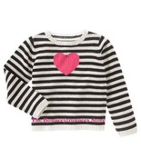 NWT Gymboree TRES CHIC Cotton Heart Sweater Top Black 4 - $17.00