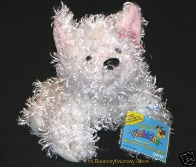 New WEBKINZ WHITE TERRIER Full Size Sealed Code
