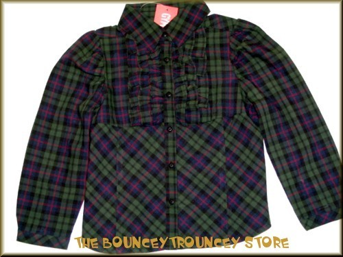 NWT Gymboree Holiday Classics PLAID RUFFLE Blouse Sz 5