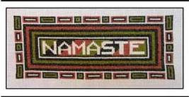 Namaste cross stitch chart The Stitcherhood - $8.10