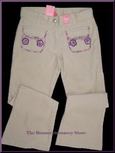 NWT Gymboree PRETTY IN PLUM Corduroy Flower Pants Sz 10