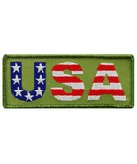 USA Embroidered Patch American Flag Stars Stripes Patriotic Iron-On Emblem - $3.50