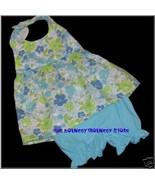 NWT New Baby Aqua FLORAL 2 PC Dress Bloomer Sz 18 M - $9.99
