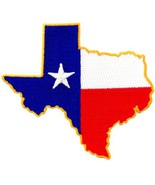 Texas Shape Flag Embroidered Patch Lone Star State Iron-On Emblem [Apparel] - $4.99