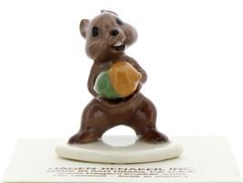 Hagen-Renaker Miniature Ceramic Figurine Chipmunk Holding Acorn on Base image 2