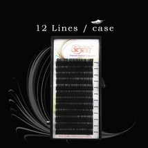 3D Thick Eye Lash Extension 12 Rows Individual Russia Silk Eyelash Exten... - $7.33