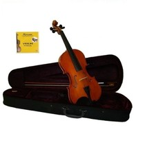1/10 Size Student Acoustic Violin with Case, Bow, Rosin+Extra Set of Strings - $45.99