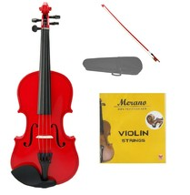 4/4 Size Acoustic Red Violin with Red Bow,Case, Rosin+Extra Set of Strings - $39.00