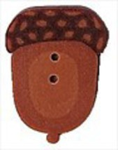 "Tiny Acorn 2233t handmade clay button .375"" Just Another Button Co - $1.40"