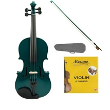 1/2 Size Acoustic Green Violin with Green Bow,Case, Rosin+Extra Set of Strings - $39.00