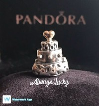 Authentic Pandora Celebration Cake Charm Pandora Two Tone Retired Pandor... - $45.99
