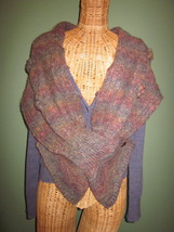 Anthropologie's Charlie & Robin Wool Sweater with Scarf size Small Purple - $45.00