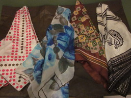 Variety of Four (4) Scarves Silk & Cotton blends one by Echo - $9.99