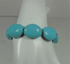 Chaps Simulated Turquoise Cord Bracelet CUTE! - $12.86