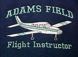Flight Instructor Sweatshirt XL Customized Airplane Aircraft Navy Crew Neck New - $29.37