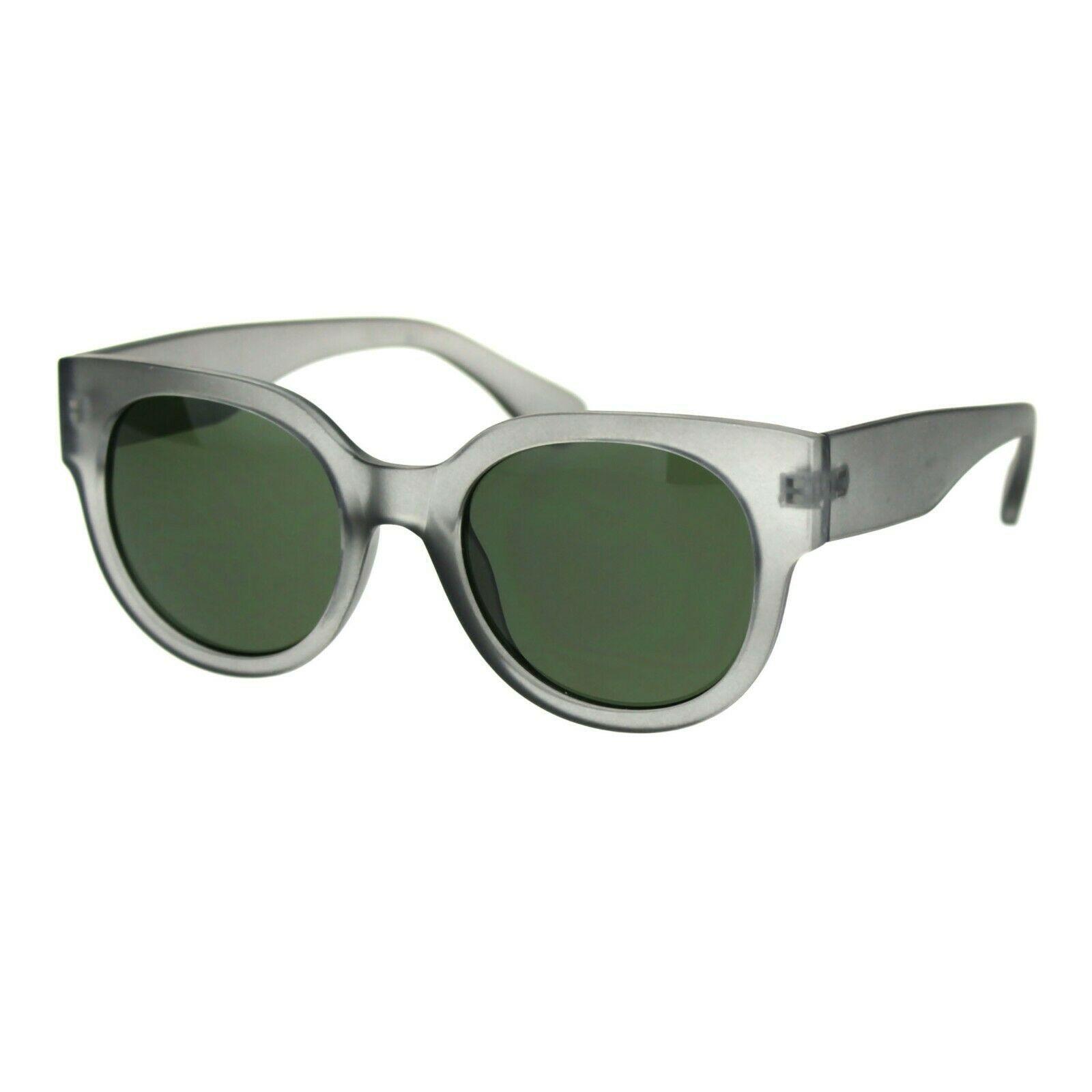 Womens Round Horn Rim Sunglasses Trendy Retro Fashion Shades UV 400 image 4