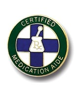 Certified Medication Aide Lapel Pin RX Medical ... - $12.57