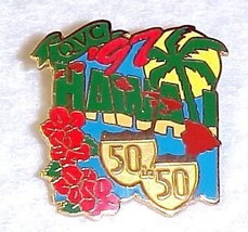 QVC Collectible State Lapel Pin 1997 Hawaii Palm Trees Flowers 50 in 50 ... - $12.71