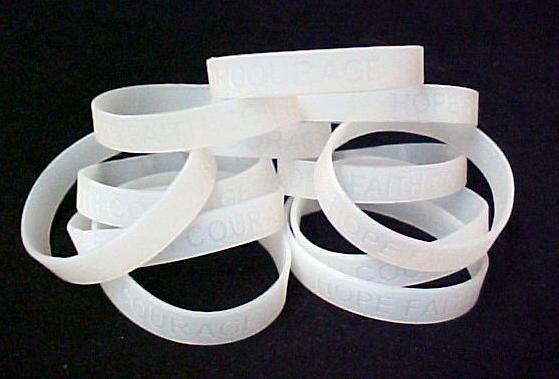 IMPERFECT Multiple Sclerosis Bracelets Translucent 24 pc Lot