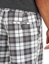 Men's Classic Fit Flat Front Cotton Plaid Stripe Pattern Lightweight Shorts image 4