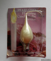 Pearlized Silicone Dipped Flicker 1W Light Bulb - $4.50