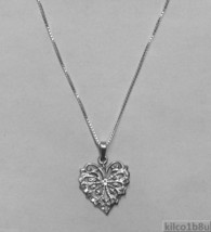 """Sterling Silver """"Butterfly"""" Heart Necklace - $44.00"""
