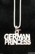 Sterling Silver Princess Necklace - GERMAN PRINCESS - $45.00