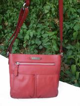 Cole Haan Pebbled Leather Pocket Crossbody Bag Coral Orange - $45.00