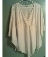 TRUE PEOPLE NY ~ Women's XL/1X Angel Sleeve Tie-Back V-Neck Empire Blous... - $27.70