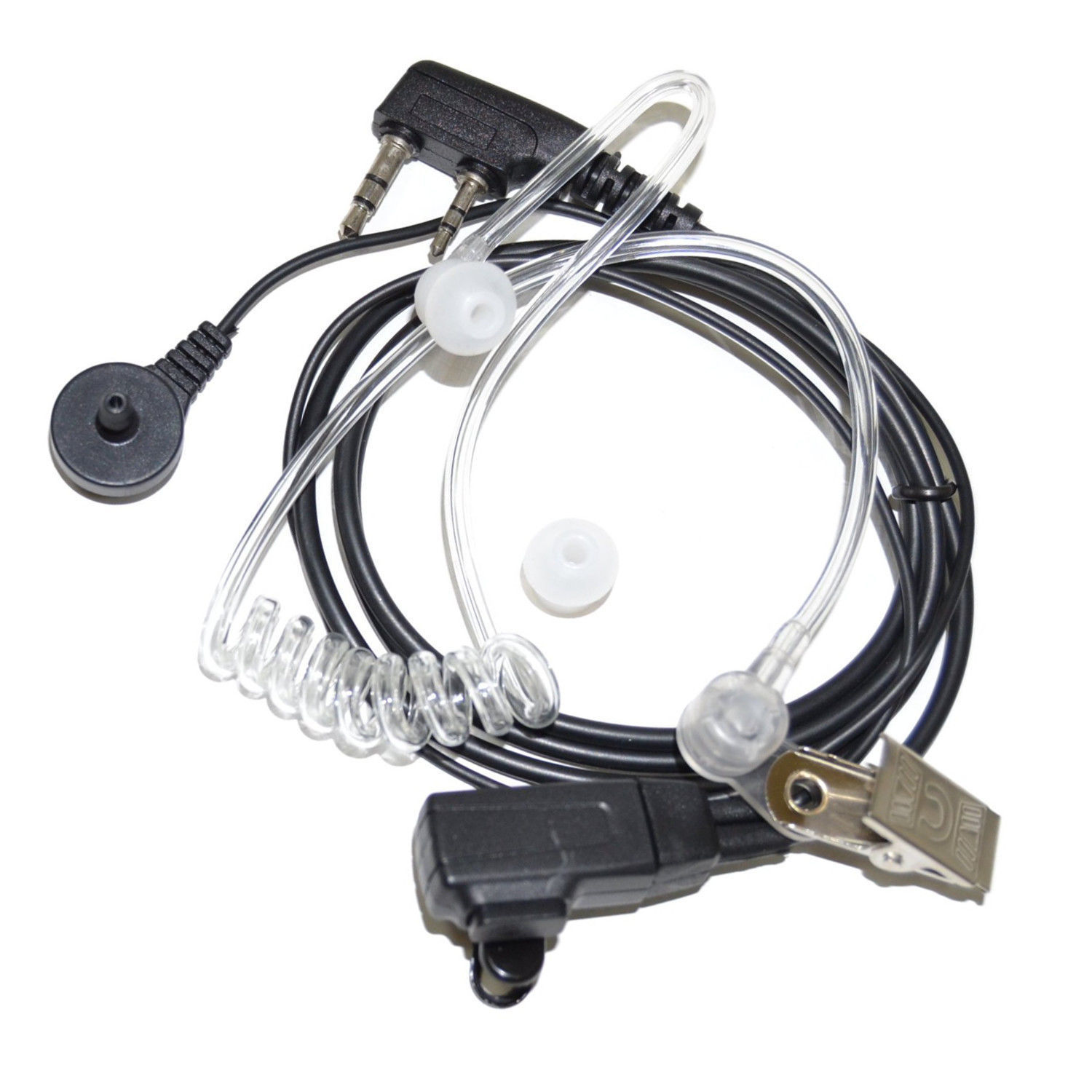 2-Pack HQRP Hands Free Headset for Kenwood TK-3202 TK-3202K TK-3202L TK-3230XLS