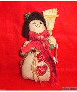 Country Looking Muslin Snowman/Snowlady-Snowgirl - $3.49