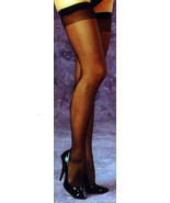 Fantasy Lingerie Sheer Stockings : Black : Queen Size - $8.99