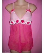 Dreamgirl Lingerie Sexy Sweet Romance Babydoll and Thong Set: One Size - $23.99