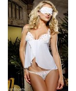 Dreamgirl Lingerie Sexy Blind Love Babydoll, Thong and Eyemask Set: One ... - $26.99
